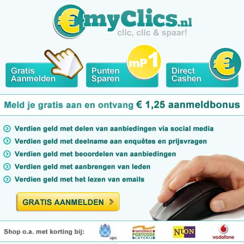 myClics.nl Spaarprogramma